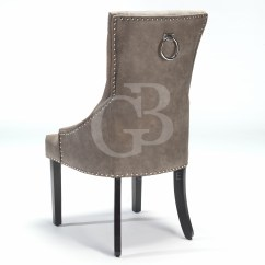 Scoop Back Upholstered Dining Chairs Swing Chair Kettal New Buttoned With Studs