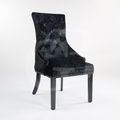 Scoop Back Upholstered Dining Chairs Full Recline Lift Chair Black Crushed Velvet With Chrome