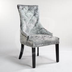 Chrome Dining Chairs Uk Pier 1 Canada Silver Upholstered Crushed Velvet Chair With