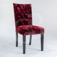 Crushed Velvet Chair Baby Blue Covers Pair Of New Upholstered Premium Red Dining