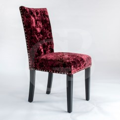 Velvet Dining Room Chairs Uk Fishing Chair Stool Pair Of New Upholstered Premium Red Crushed