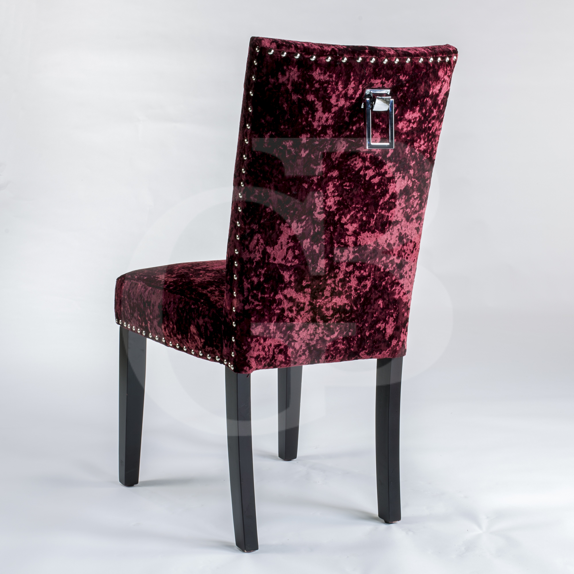 velvet dining room chairs uk contemporary reading chair pair of new upholstered premium red crushed
