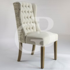 Cream Upholstered Dining Chairs Uk Blue Metal Folding Egb75 S New Henley Script Linen Chair