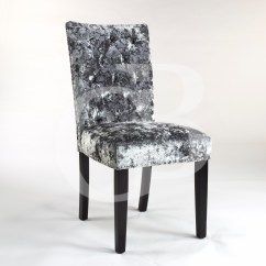 Velvet Chair Covers Wholesale China Wood Drafting Pair Of New Upholstered Premium Grey Crushed Dining