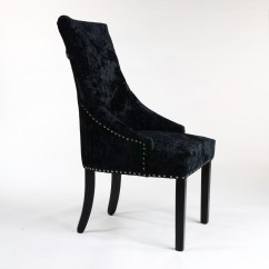 High Back Velvet Chair Uk Little Tikes Table And Chairs Target New Premium Upholstered Black Crushed Chelsea