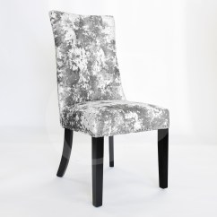 Crushed Velvet Chair King Size Folding Egb81 Gh New Premium Silver Siena Hoop
