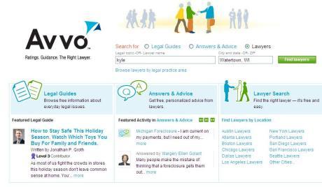 Avvo Legal Guide