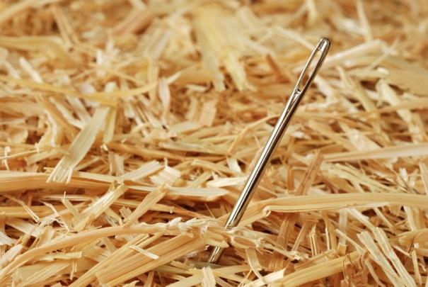 Haystack, meet needle.