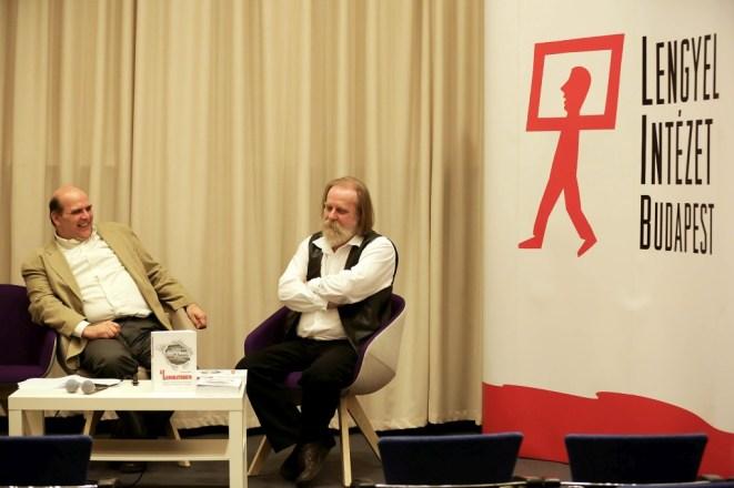 Gajdó Tamás és Adorján Viktor a Laboratórium című könyv bemutatóján