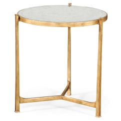Mirrored Pyramid Living Room Accent Side End Table Luxury Small Decor Gold Tables Elegant Tall Antiqued Gilt Partner Console Coffee Available