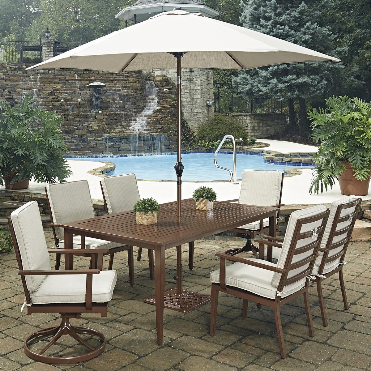 Spring Haven Umbrella Accent Table
