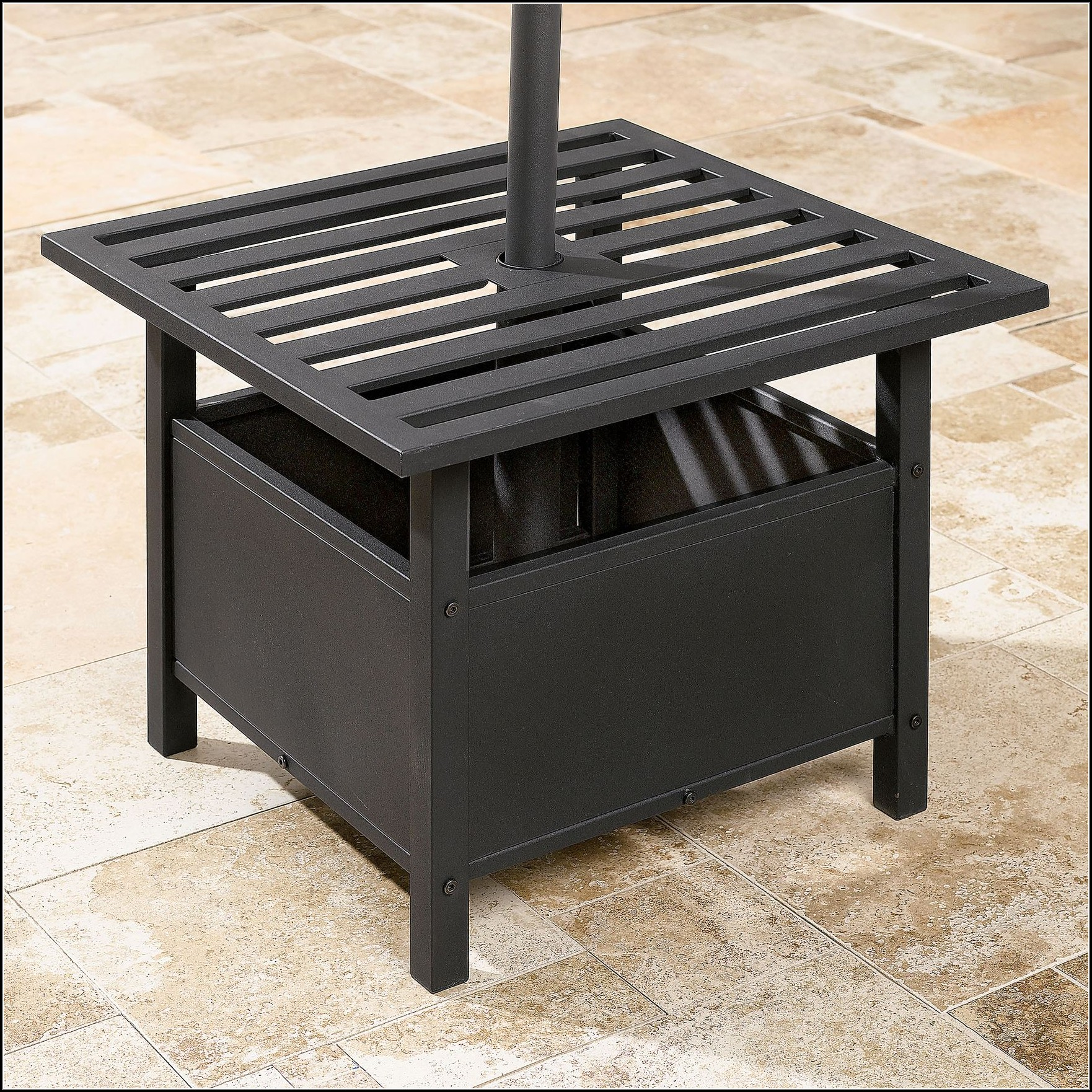 Outdoor Side Table With Umbrella Hole