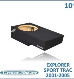 gs fst110b black 10 single sealed sub box fits 2001 2005 ford explorer sport trac crew cab [ 4800 x 4800 Pixel ]