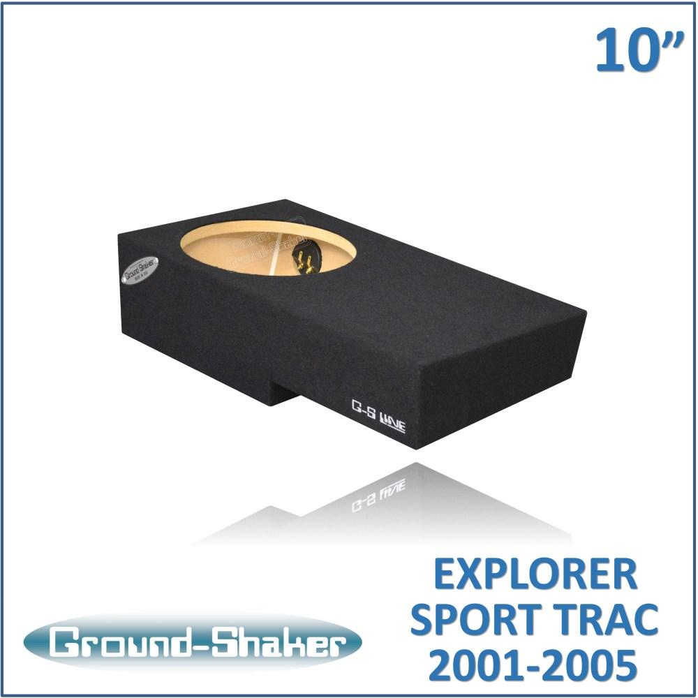 medium resolution of gs fst110b black 10 single sealed sub box fits 2001 2005 ford explorer sport trac crew cab