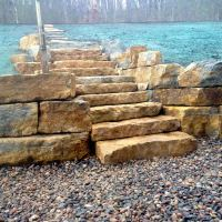 Retaining Walls & Stairs - Ground Breakers Landscape Design