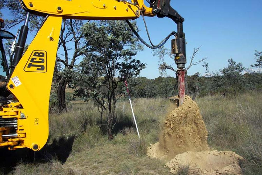 rock drilling in Wamboin pole hole