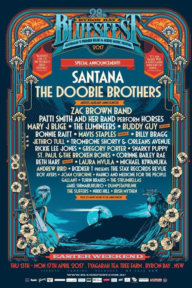Byron Bay Bluesfest 2017  Doobie Brothers