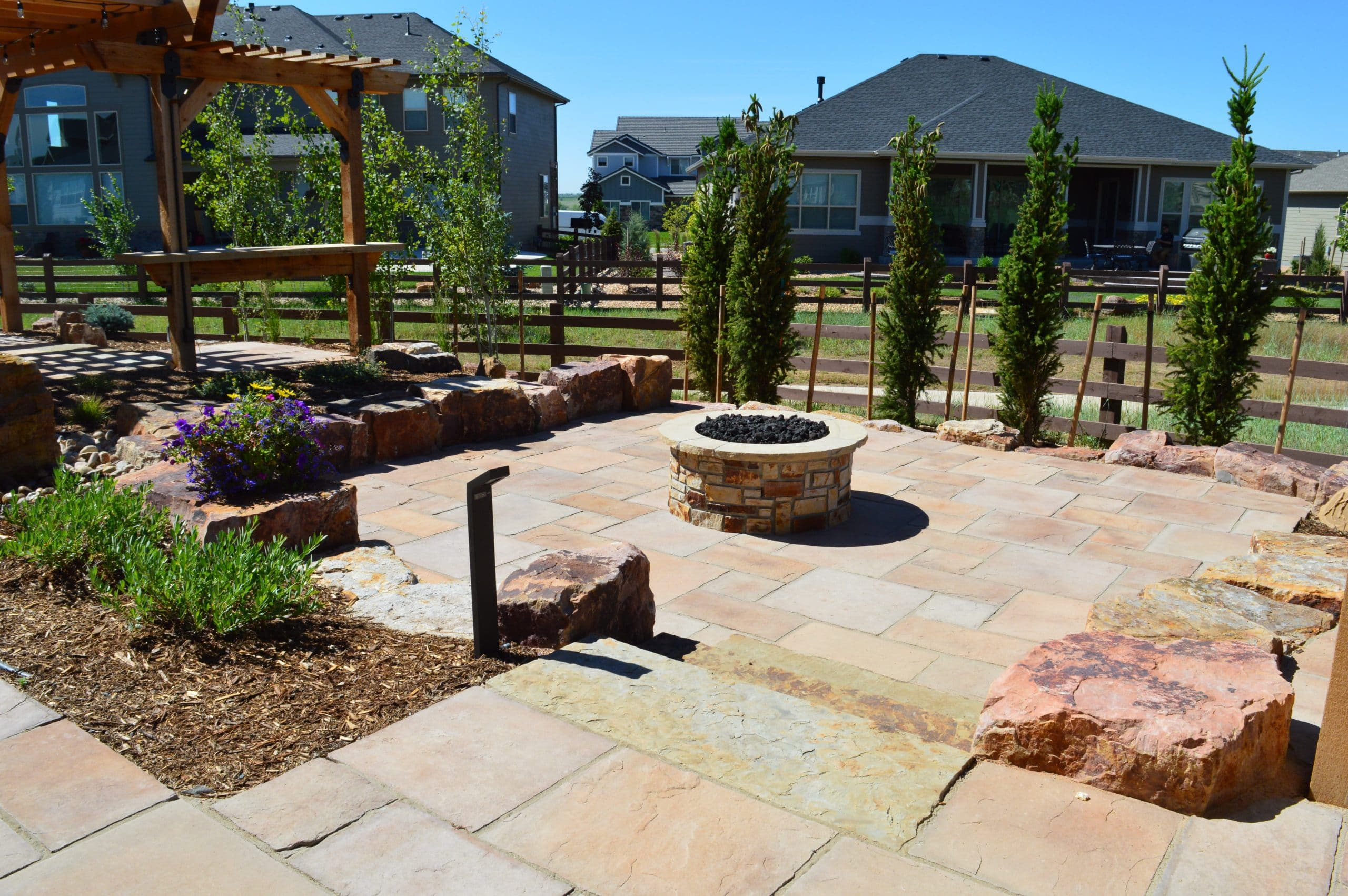 patio fire pit installation