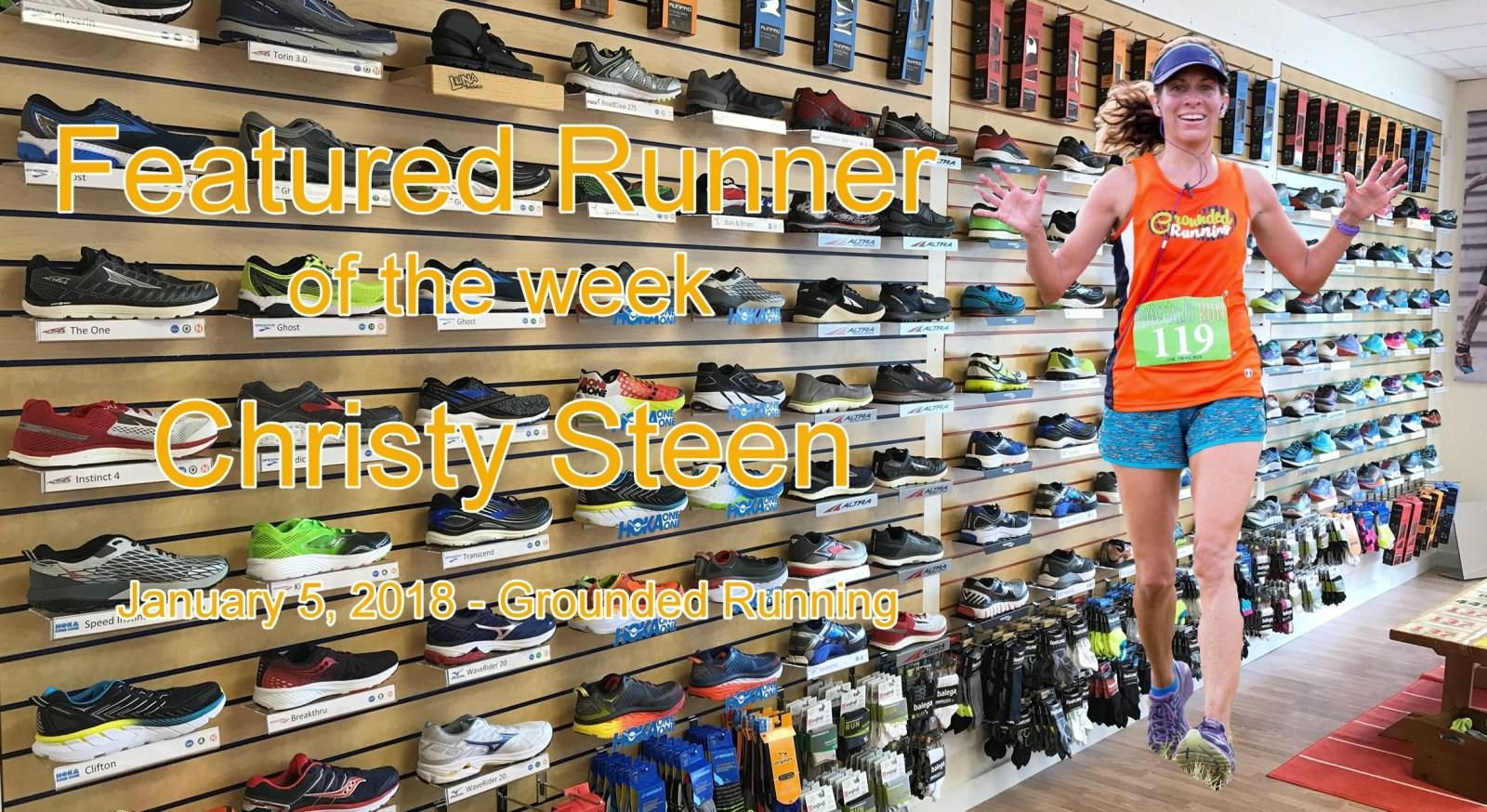 Christy Steen Featured Runner of the week