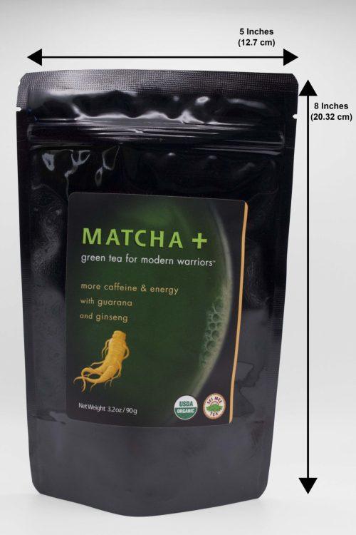 Matcha Plus Ginseng and Guarana 90g Dimensions