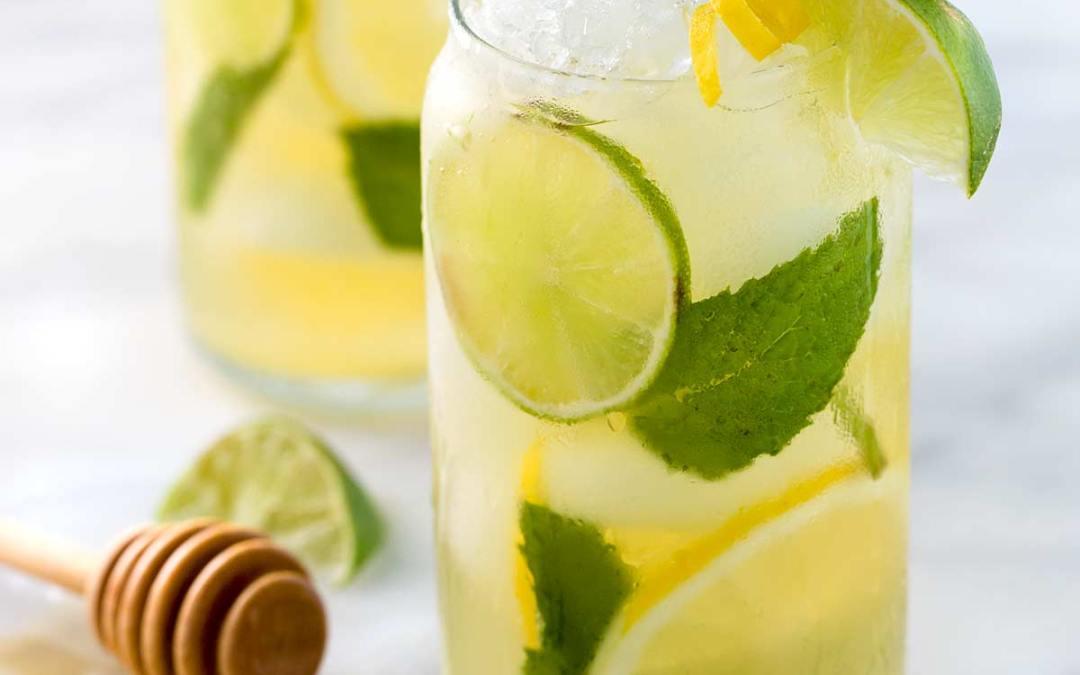 Iced Green Tea with Lime, Lemon & Honey