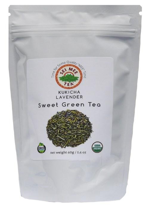 Kukicha Lavender Sweet Green Tea, Organic