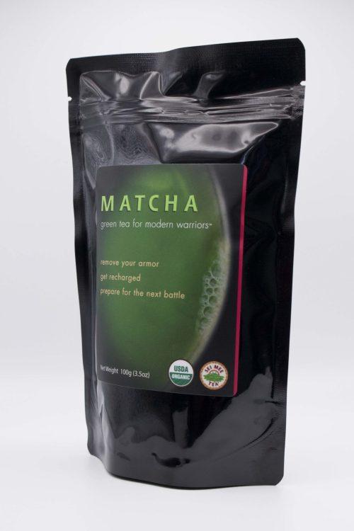 Matcha Green Tea for Modern Warriors Side