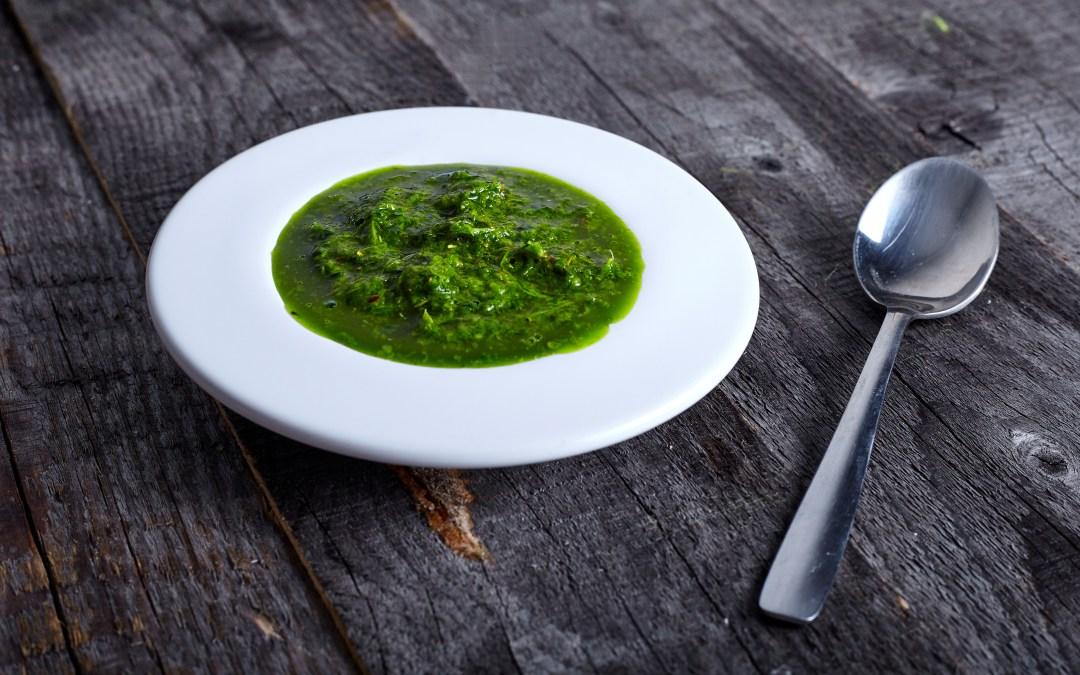 Green Chili and Matcha Chimichurri