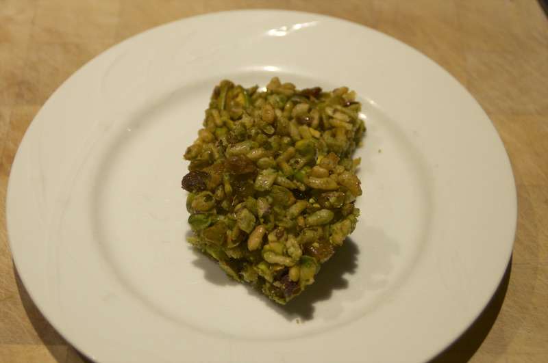 Matcha Pistachio Cereal Bites