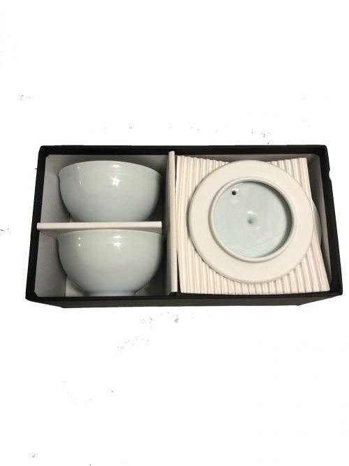 Celadon tea gift box open