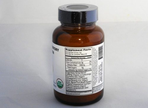 Anti-Inflammatory Adaptogen Supplement Facts