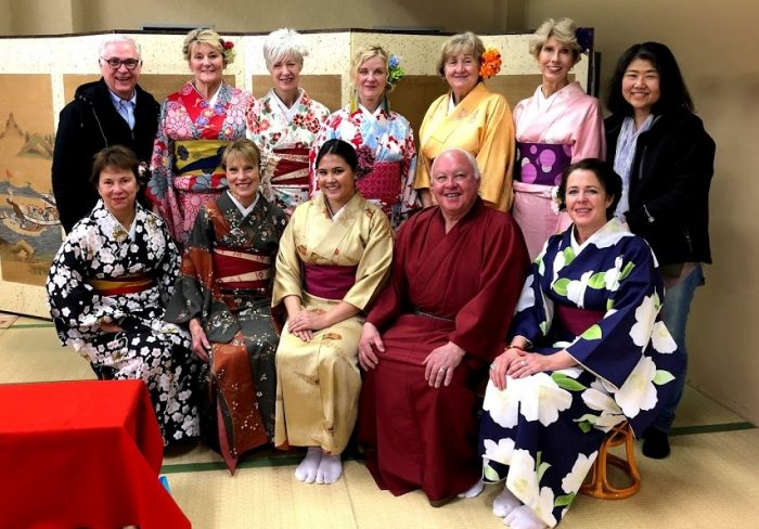 Tea ceremony in Kimono