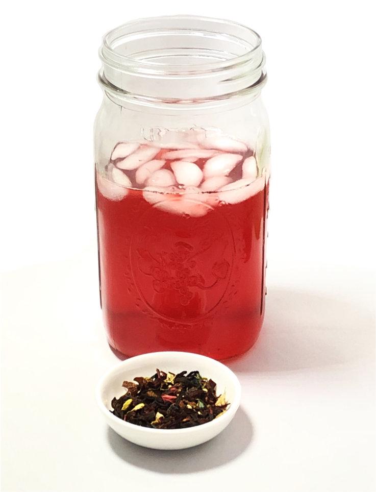 iced hibiscus tea