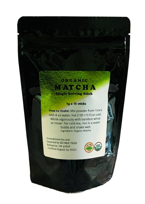 Organic Matcha Single Serving Sticks