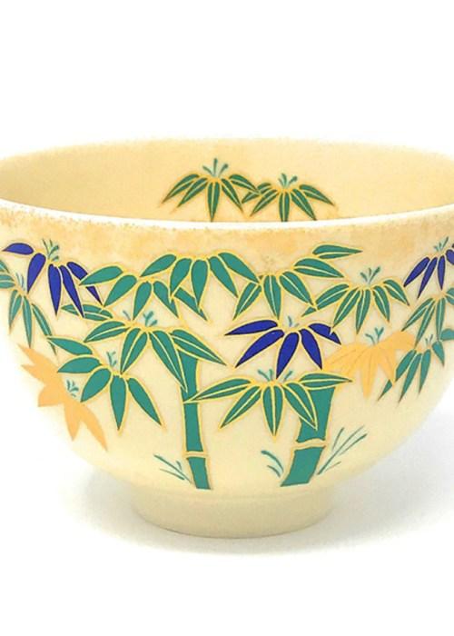 Matcha Tea Bowl Bamboo (Ninsei)