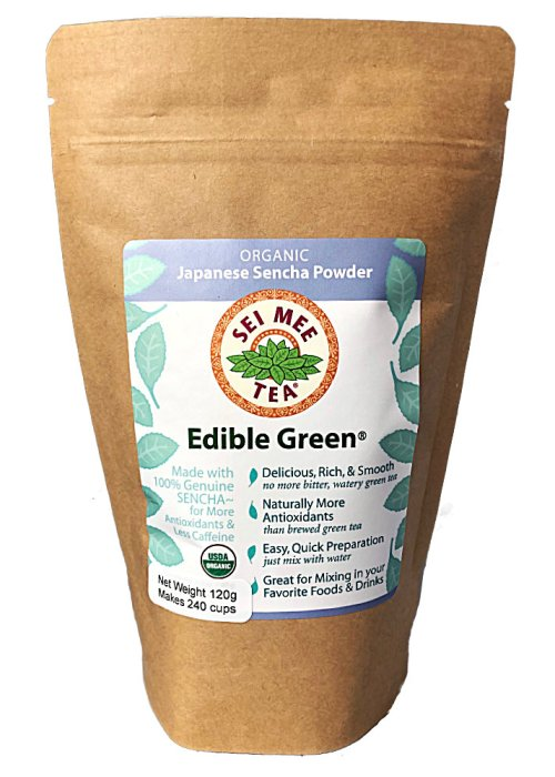 Edible Green Tea Sencha Powder 240 cups