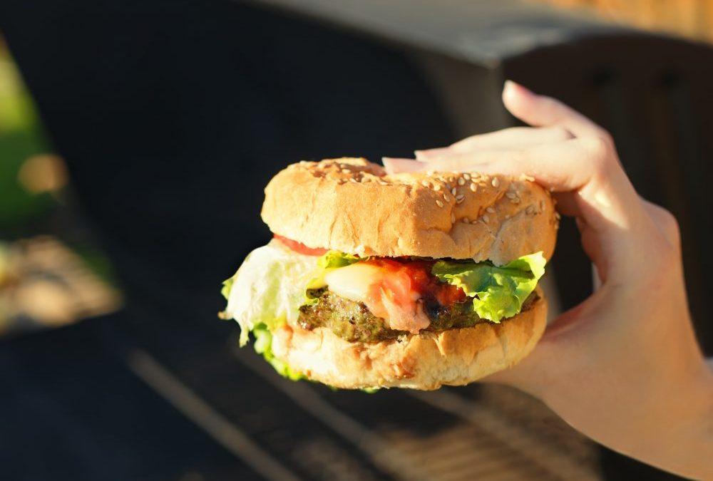 Hamburger boosted with Umami and Green Tea Antioxidants