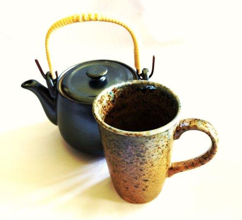 oribe yaki tea cup