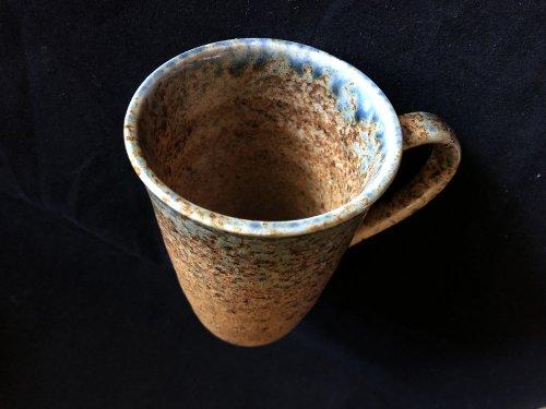 oribe yaki tea cup inside