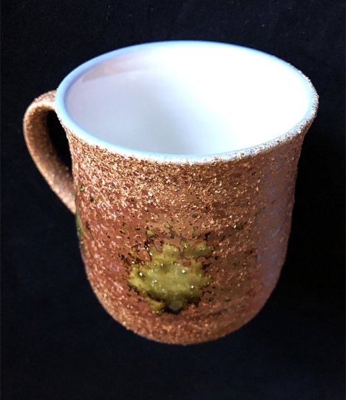 oribe yaki tea cup with lid