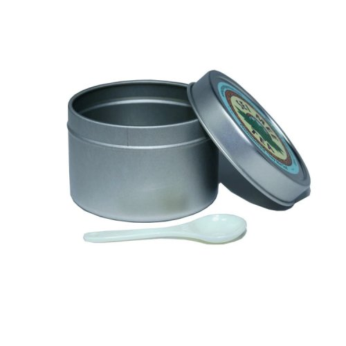 storage tin with a measuring spoon