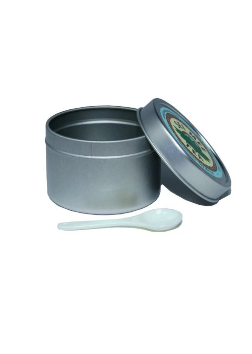 Edible Green Tea Storage Tin with a measuring spoon