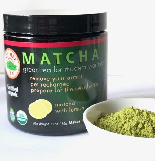 matcha lemon powder and container