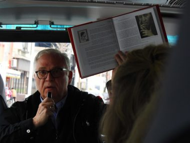 Tea Historian Bruce Richardson Talks about Japanese Tea Culture in the Tour Bus