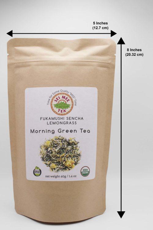 Fukamushi Sencha Lemongrass Loose Leaf Tea Dimensions