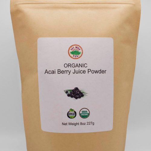 Front View Acai Berry Juice Powder Pouch