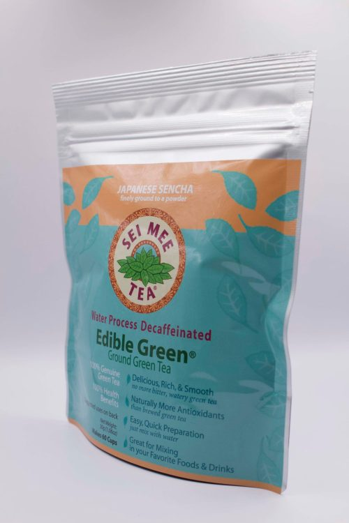 Decaffeinated Edible Green Sencha Pouch side view