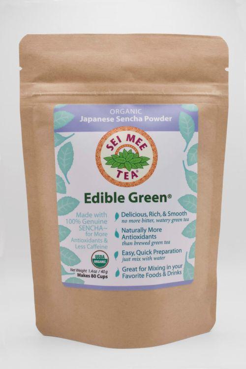 Edible Green Sencha 80 cup Front View