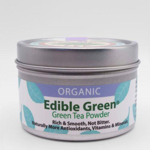 Edible Green Sencha Tin Front view