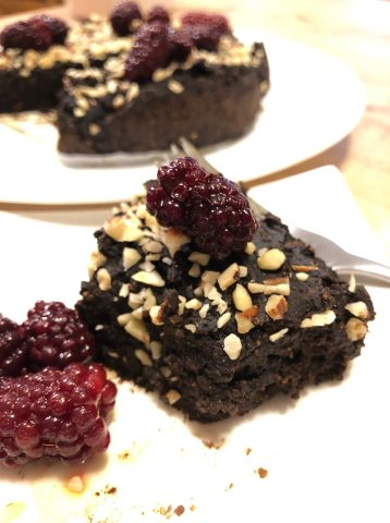 delicious vegan brownies made with no chocolate